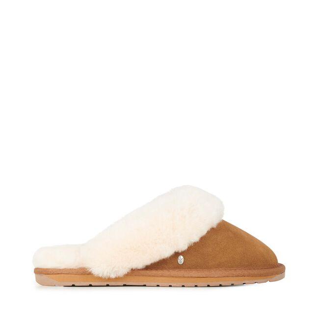 Jolie羊毛拖鞋, CHESTNUT, hi-res