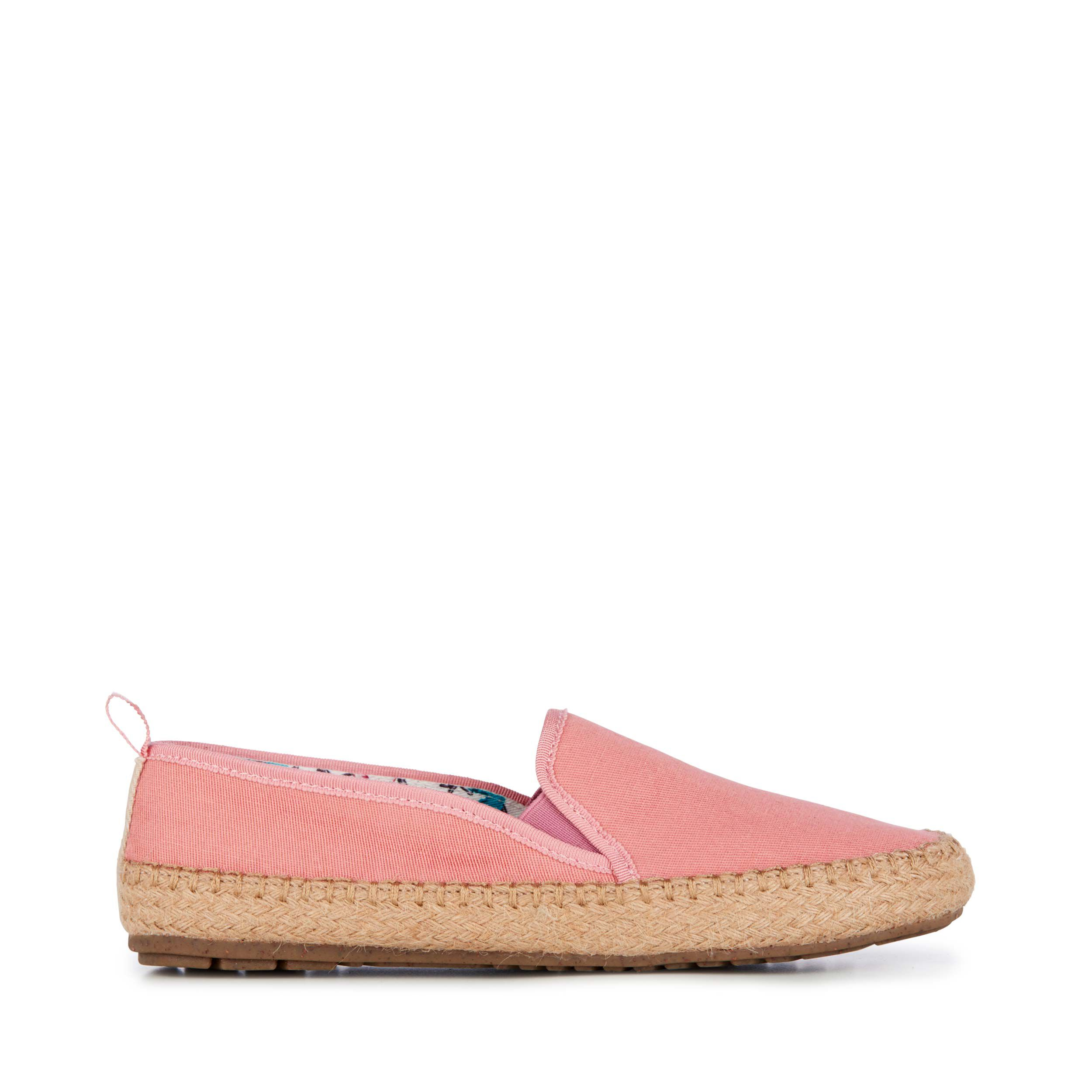 Pink Canvas Slip Ons