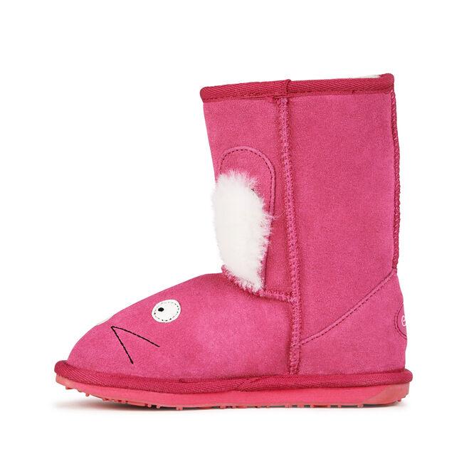 Rabbit童款雪地靴, HOT PINK, hi-res