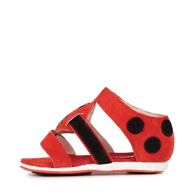 Ladybird Sandal, RED, hi-res