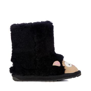 Lamb童款雪地靴, BLACK, hi-res