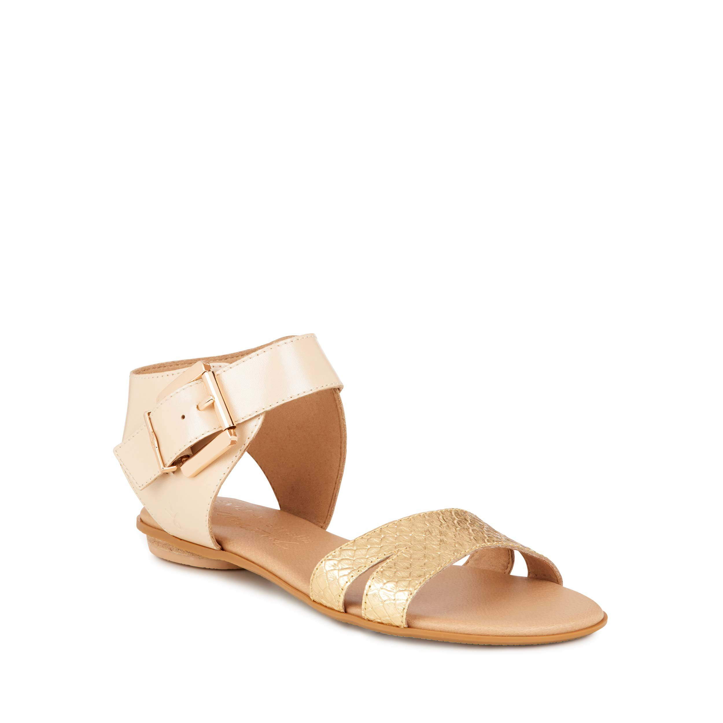 EMU Australia SAMPHIR - Sandals - almond/metallic 1mip7RO4nC
