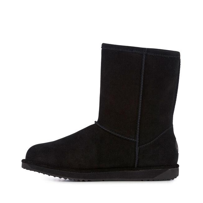 Paterson Lo中筒羊毛雪地靴, BLACK, hi-res