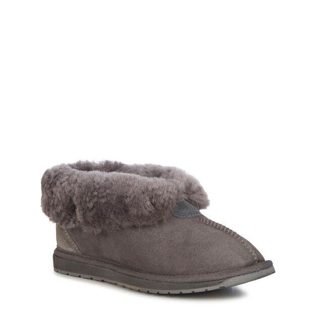 Albany 羊毛翻口便鞋, CHARCOAL, hi-res