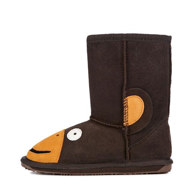 Monkey童款雪地靴, CHOCOLATE, hi-res