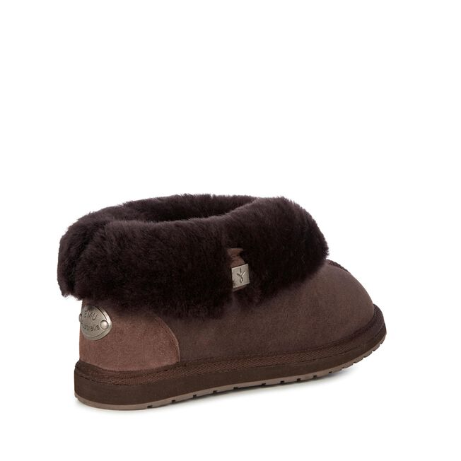 Albany 羊毛翻口便鞋, CHOCOLATE, hi-res