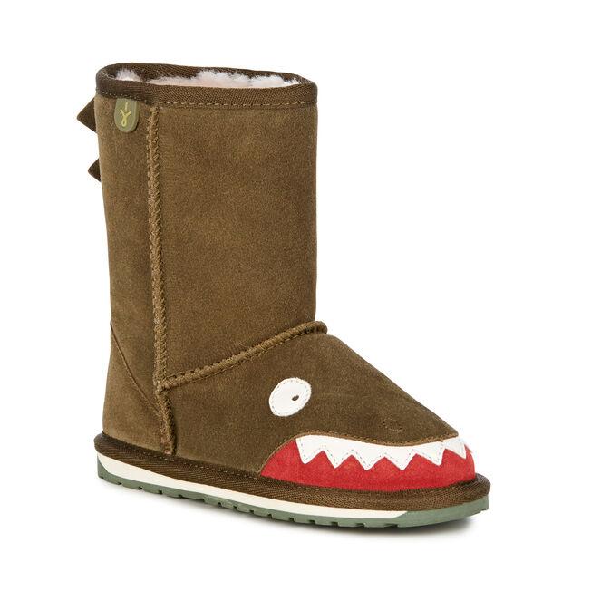 Croc童款雪地靴, OLIVE, hi-res