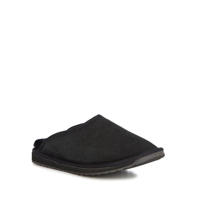 Platinum Esperence羊毛拖鞋, BLACK, hi-res