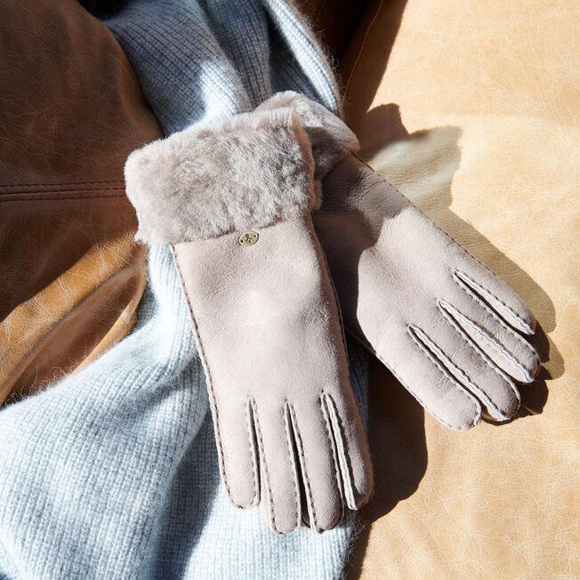 Apollo Bay羊皮手套, MUSHROOM, hi-res