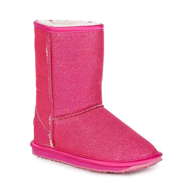 Sparkle童款中筒雪地靴, HOT PINK, hi-res