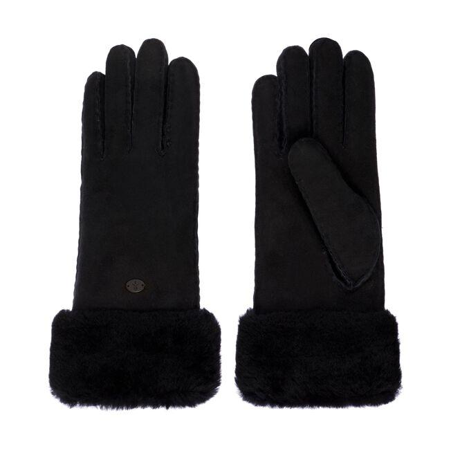 Apollo Bay羊皮手套, BLACK, hi-res