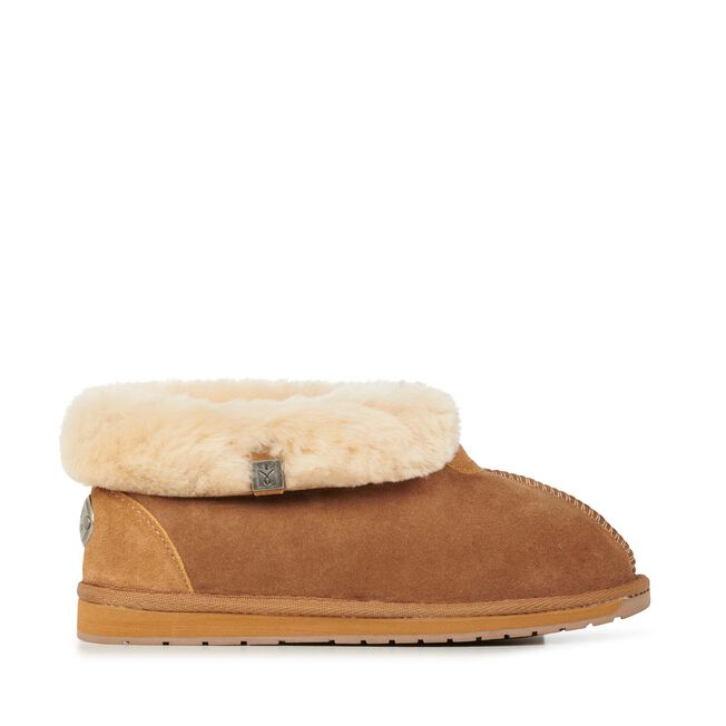 Albany 羊毛翻口便鞋, CHESTNUT, hi-res