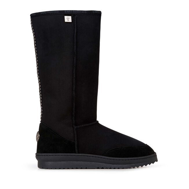 Platinum Outback Hi 高筒羊毛雪地靴, BLACK, hi-res