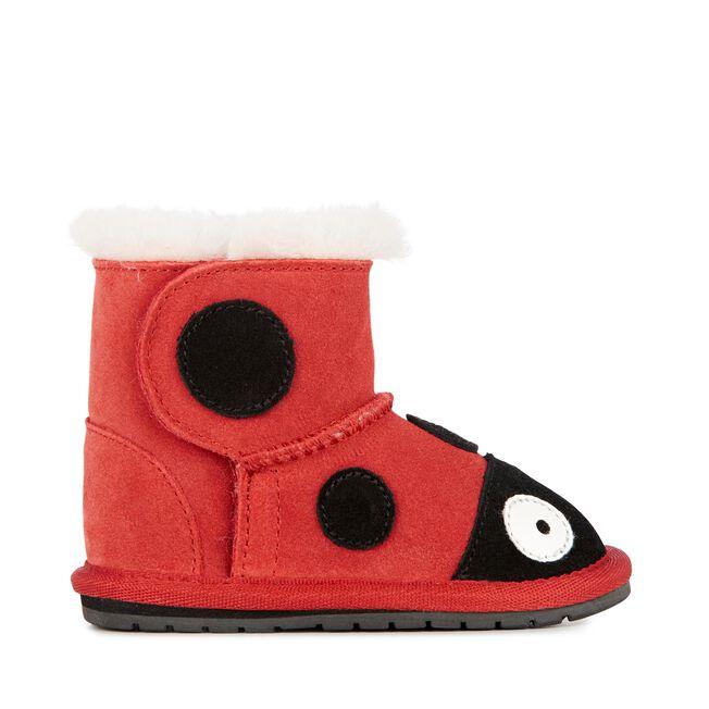 瓢蟲學步靴, RED, hi-res