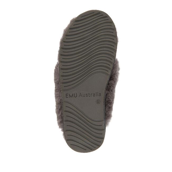 Tova長絨拖鞋, CHARCOAL, hi-res