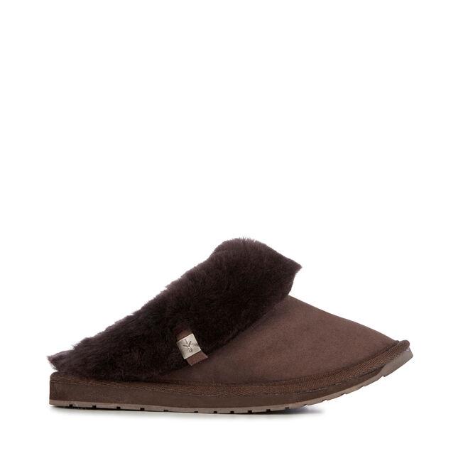 Eden 羊毛拖鞋, CHOCOLATE, hi-res